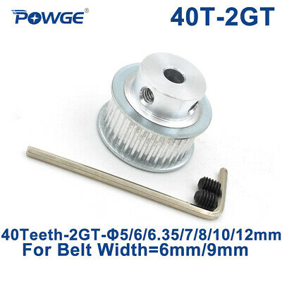 40T 2GT Synchronous Pulley 40 Teeth Bore 5/6.35/8/10mm for Width 9mm GT2 Belt