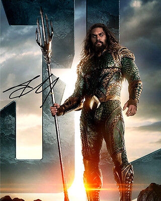 Justice League Aquaman Jason Momoa Signed Photo Autograph Reprint