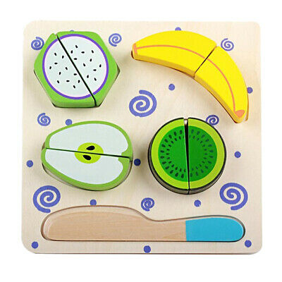 Magnetic Wooden Food Vegetable Pretend Play Set Kids Interactive Role Play Games