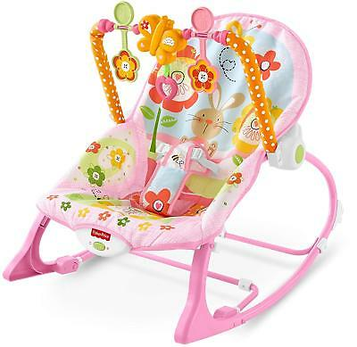 Infant to Toddler Rocker Bouncer Seat Baby Chair Sleeper Swing Toy Portable NEW