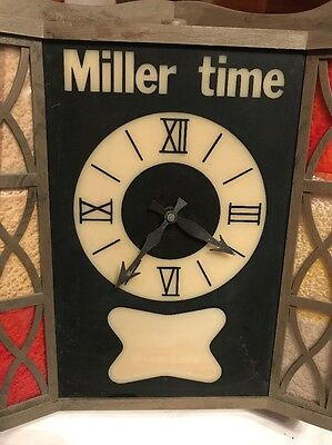 Vintage Miller Time Clock Non Working