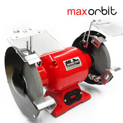 "200mm 8"" Bench Grinder 240V 550W Power Motor, Fine & Coarse Wheels Polisher"