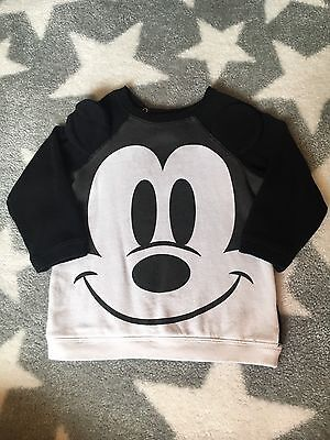 H&M Baby Boys Mickey Mouse Jumper 12/18 Months