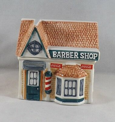 1997 Collectible Coca Cola Ceramic Canister Collection - Barber Shop