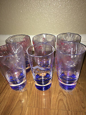 Rare Ciroc Vodka Hard Acrylic Glasses (6 Pack) Drinking Cups With Free Shipping