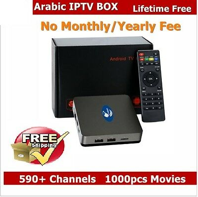 Arabic TV box Android Best IPTV Box Support 550+ Arabic channels Free For Life!