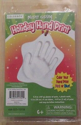 Baby Hand Print Christmas Ornament Plaster Mold Kit Boy or Girl HandPrint Star k