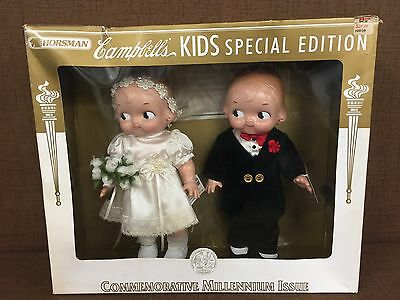 Horsman Campbell's Kids Special Edition Bride Groom Millennium Issue Dolls NIB