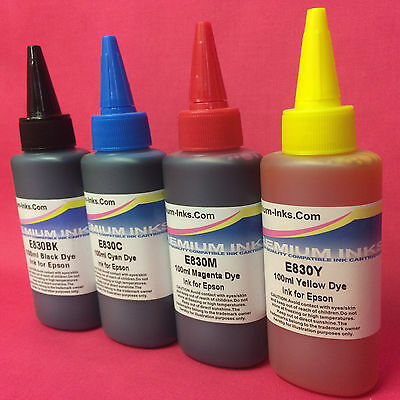 4X Refill Ink Bottles For Epson Expression Home Xp235 Xp245 Xp247 Xp332 Printer