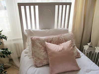 Lovely Vintage French Country Style Single Guest Bed Laura Ashley Pale Dove Grey