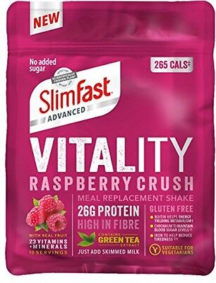 SlimFast Vitality Meal Replacement Powder, Raspberry Crush, 440g 10 Servings