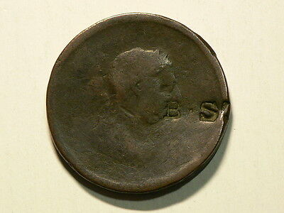 1806 - 1807 Great Britain Penny  CounterStamp B.S  #G6052