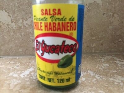 El Yucateco GREEN Salsa Picante de Chile Habanero Hot Sauce 4 oz