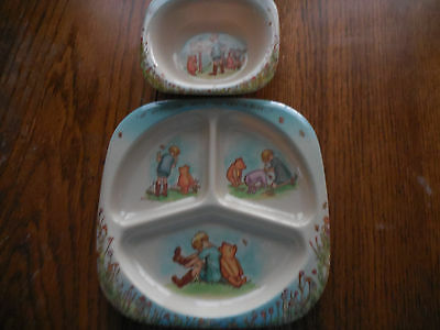 Vintage Selandia designs Taiwan Winnie the Pooh baby plate and bowl