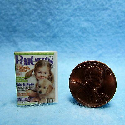 Dollhouse Miniature Replica of PARENTS Magazine ~ Printed to Detail