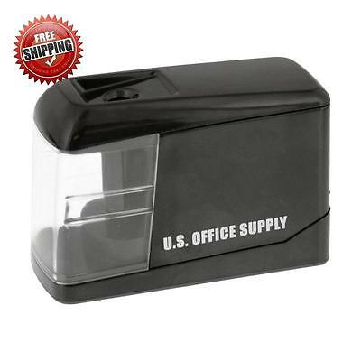 Compact Electric Pencil Sharpener Battery&USB Power Easy To Use Office Supply US