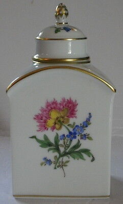 Meissen Tea Jar -Caddy Porcelain Floral Design - Germany