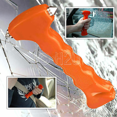 Car Glass Window Breaker Emergency Hammer Seat Belt Cutter New Glow In the Dark