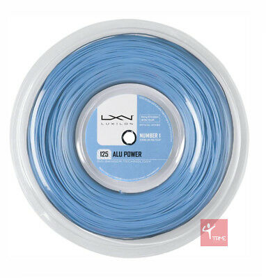 Luxilon Big Banger Alu Power 125 Tennis String 220m Reel - Ice Blue