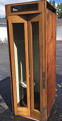 Vintage Wooden Phone Booth  - Local Pickup Only