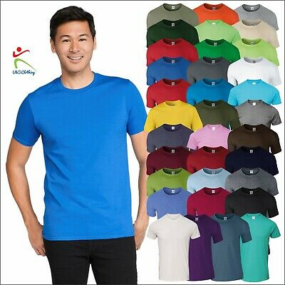 Gildan Adult Softstyle T-Shirt Men's Soft Cotton Plain Tshirt Cotton Blank T TOP