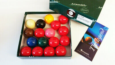 Aramith Snooker Ball set (10 Red) 38mm for small Table