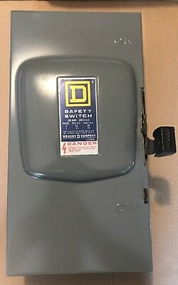 Square D D323N 100-Amp 240-Volt 3-Pole Fusible Indoor Safety Switch
