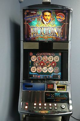 "WILLIAMS WMS BLUEBIRD SLOT MACHINE ''HOUDINI""  Magician - Cave Room"