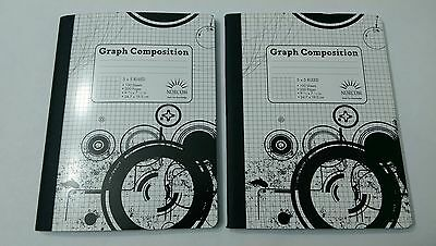 5 x 5 Ruled Graph Composition Book (Pack of Two Books), Free Shipping, New