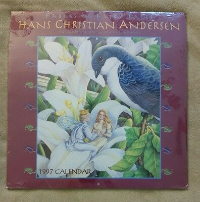 1997 Hans Christian Andersen: Fables and Fairy Tales Calendar - NEW.