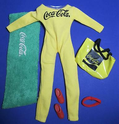 "COCA COLA AEROBIC FASHIONS OUTFIT Barbie SINDY LINDSEY DREAM GIRL 11.5"" Doll"