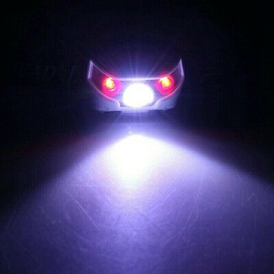 Super Bright HeadTorch LED USB Rechargeable White and Red Headlight for Camping