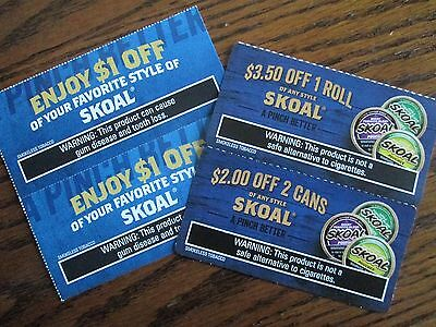SKOAL $3.50 Off 1 Roll & $2 Off 2 Cans