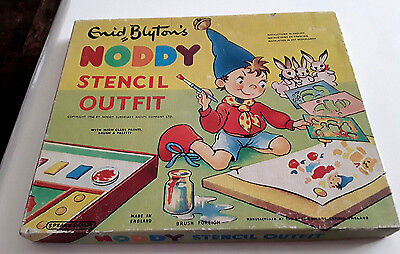 Vintage Enid Blyton's Noddy Stencil Outfit Made by Spears 1957 New Never Used