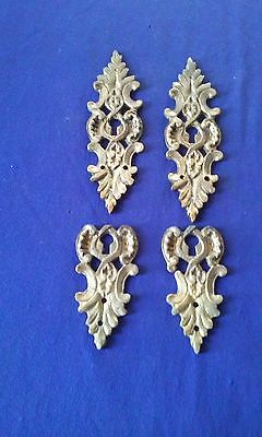 vintage / antique french bronze furniture ormolu drawer key hole [ 2 pair ]