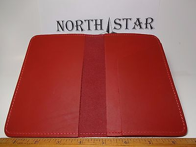 North Star Red Top Stub Leather Checkbook Cover-Factory Second-Made In USA #131