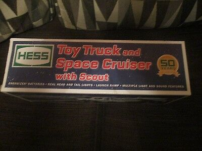 HESS 2014 50th Anniversary Toy Truck And Space Cruiser With Scout NEW IN PACKGE