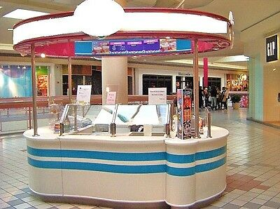 Mall Kiosk 10'x10' with the requirements to pass health inspection.