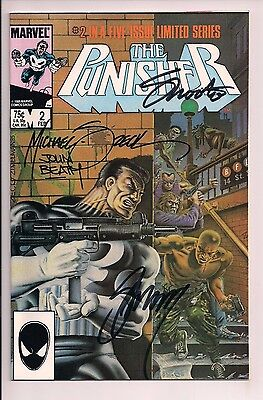 The Punisher #2 Signed by John Beatty, Gerry Conway, Jim Shooter, Mike Zeck WCOA