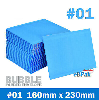 Bubble Mailer #01 - BLUE Colour Vivid- 160x230mm  Padded Bag Envelope 50 200 500