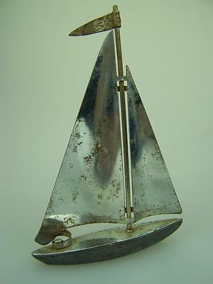 English nickel/chrome plated Art Deco yacht desk ornament vintage