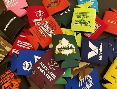10 Random Beer / Soda Can Koozies - overruns, test prints, misprints ect. NEW