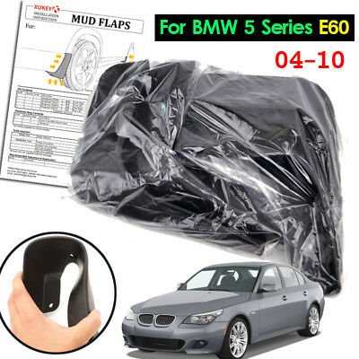 Set Mud Flaps For BMW 5 Series E60 2004-2010 Molded Splash Guards Car Mudguards
