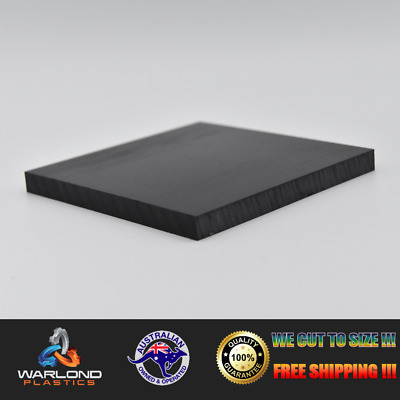 HDPE SHEET / BLACK / A4 SIZE 297x210x6mm / FREE SHIPPING!!!