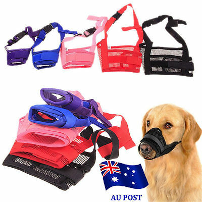 Dog Pet Puppy Muzzle Anti Stop Bite Bark Chewing Mask All Training Small Large