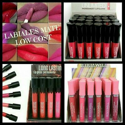 Pack/Set/Kit 24 pcs líquid matte lipstick/lipgloss Leticia Well
