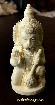 Lord Hanumana Hanuman Hand Made Marble Statue Beautiful Blessed Hindu God 5""