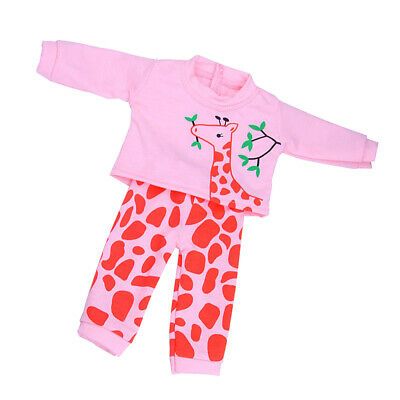 Cute Giraffe Printed Top & Pants Outfit for 18'' American Girl Dolls Clothes