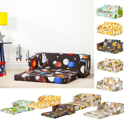Children Folding Sofa Bed Futon Guest Mattress Fold Out Chair Bed Kids Toddlers