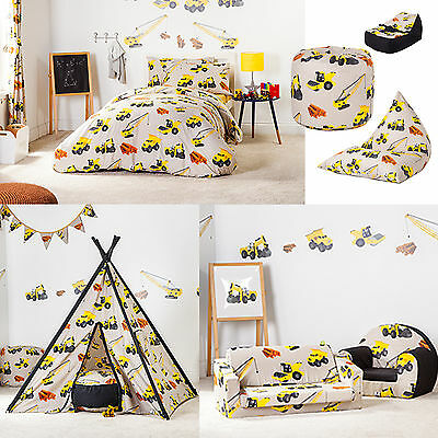 Diggers Design Children's Bedding & Bedroom Furniture Collection Kids Nursery